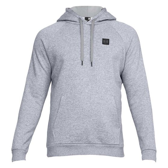 Under Armour Mens Rival Fleece Hoodie, Grey, rebel_hi-res