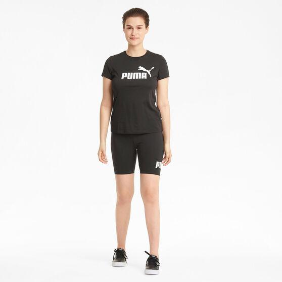"""Puma Womens Essentials 7"""" Shorts, Black, rebel_hi-res"""