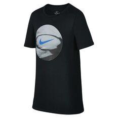 Nike Boys Dry Basketball Tee Black X S, Black, rebel_hi-res