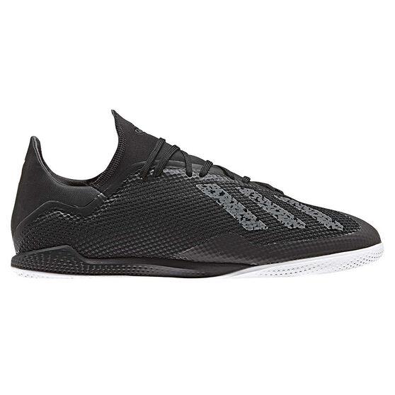 adidas X 18.3 Mens Indoor Soccer Shoes Black / White US 13, Black / White, rebel_hi-res