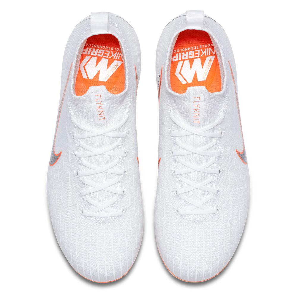 Nike Mercurial Superfly VI Elite Junior Football Boots White   Grey US 6 3290dbe7b7f2e