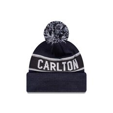 Carlton Blues New Era Supporter Beanie Navy/White OSFA, , rebel_hi-res
