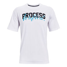Under Armour Mens Embiid Talker Tee White S, White, rebel_hi-res