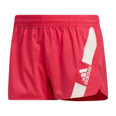 adidas Womens Pacer Disrupt Shorts Pink XS, Pink, rebel_hi-res