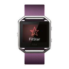 Fitbit Blaze Smart Fitness Watch Plum / Silver L, Plum / Silver, rebel_hi-res