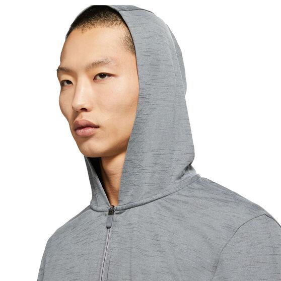 Nike Mens Dri-Fit Full Zip Yoga Jacket, Grey, rebel_hi-res