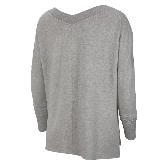 Nike Womens Yoga Fleece Cover Up, Grey, rebel_hi-res