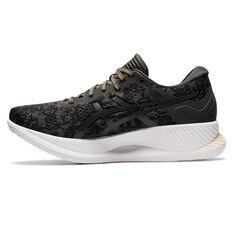 Asics Glideride EDO Era Womens Running Shoes, Black/Grey, rebel_hi-res