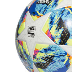 adidas Finale 19 Top Trainer Soccer Ball White / Blue 5, White / Blue, rebel_hi-res