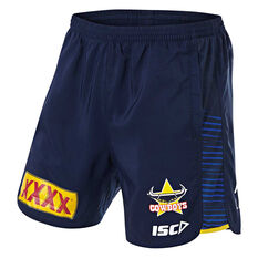 North Queensland Cowboys 2019 Mens Training Shorts Navy S, Navy, rebel_hi-res