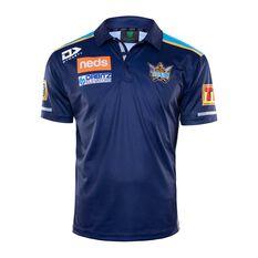 Gold Coast Titans 2020 Mens Media Polo Blue S, Blue, rebel_hi-res
