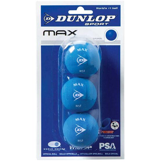 Dunlop Blue 3 Pack Squash Balls, , rebel_hi-res