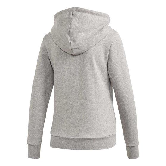 adidas Womens Essentials Linear Full Zip Hoodie Grey XS, Grey, rebel_hi-res
