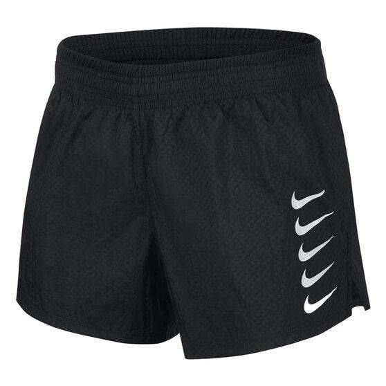 Nike Womens Swoosh Run Shorts, Black, rebel_hi-res