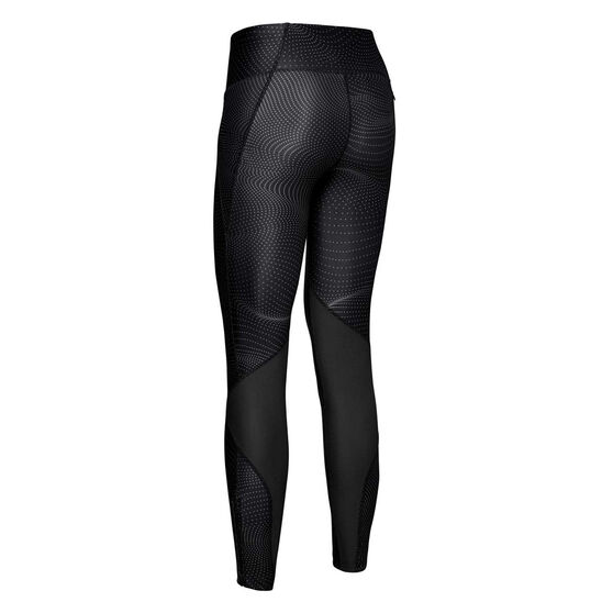 Under Armour Womens Fly Fast Printed Tights Grey XS, Grey, rebel_hi-res