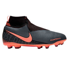 Nike Phantom Vision Elite Kids Football Boots Grey / Red US 4, Grey / Red, rebel_hi-res
