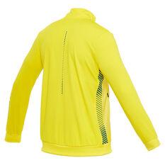 Asics Mens Australian Olympic Replica Podium Jacket Yellow S, Yellow, rebel_hi-res