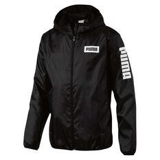 Puma Mens Rebel Windbreaker Black S, Black, rebel_hi-res
