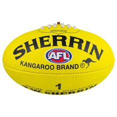 Sherrin Synthetic AFL Football Yellow 1, , rebel_hi-res