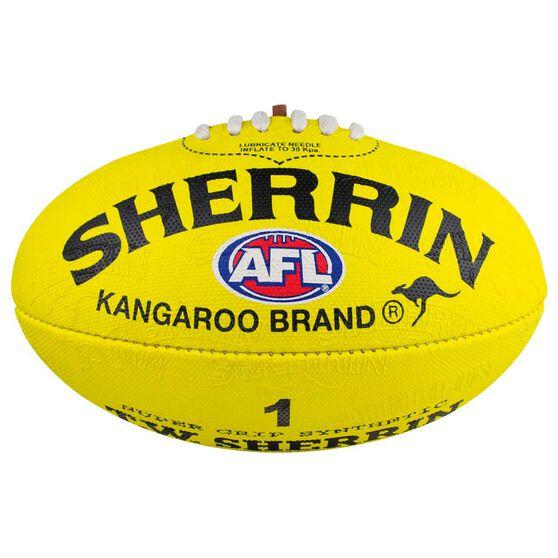 Sherrin Synthetic AFL Football Yellow 1, , rebel_hi-res