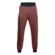 Under Armour Mens Rival Max Fleece Track Pants Red S, Red, rebel_hi-res