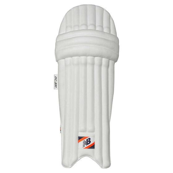 New Balance DC 300 Junior Cricket Batting Pads, Blue/Orange, rebel_hi-res