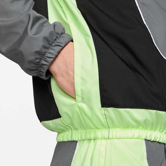 Nike Mens Throwback Basketball Jacket Grey L, Grey, rebel_hi-res