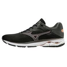 Mizuno Wave Rider 23 Womens Running Shoes Black / White US 6, Black / White, rebel_hi-res