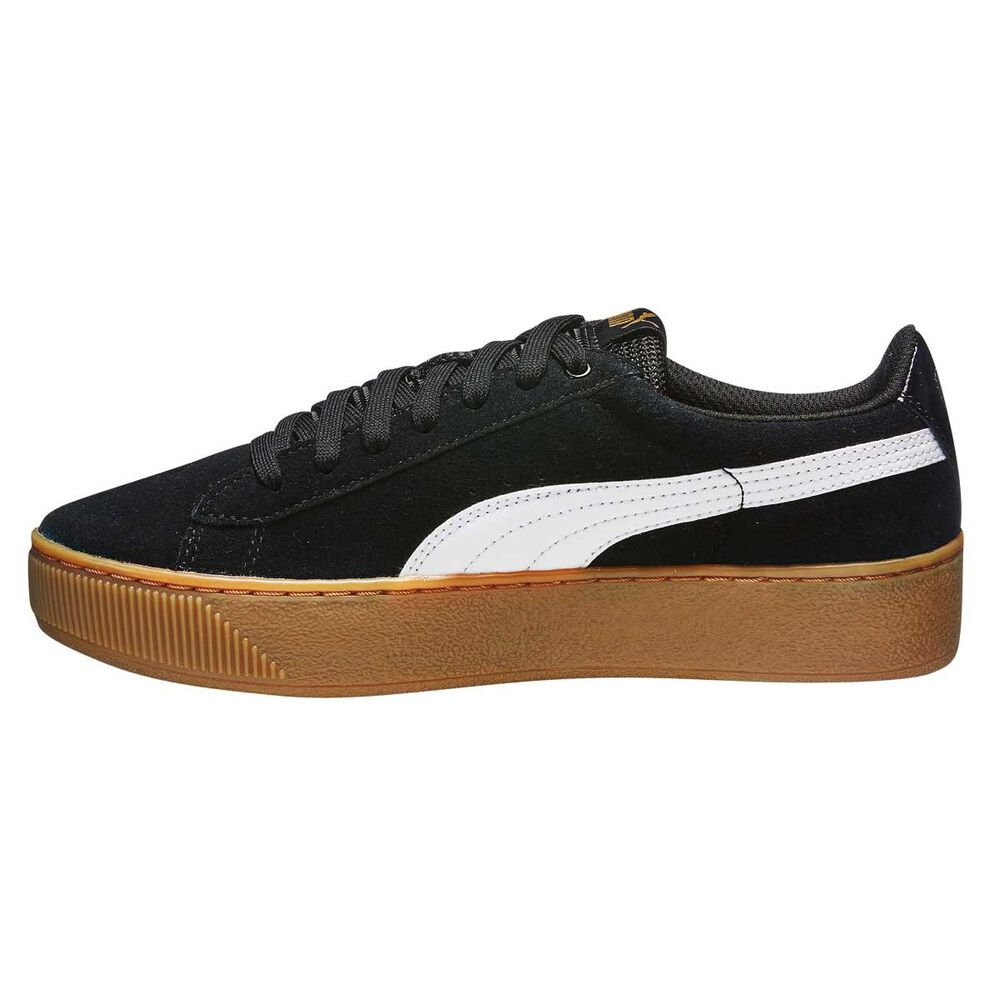 8e93889e4e36fb Puma Vikky Platform Womens Casual Shoes Black   White US 6