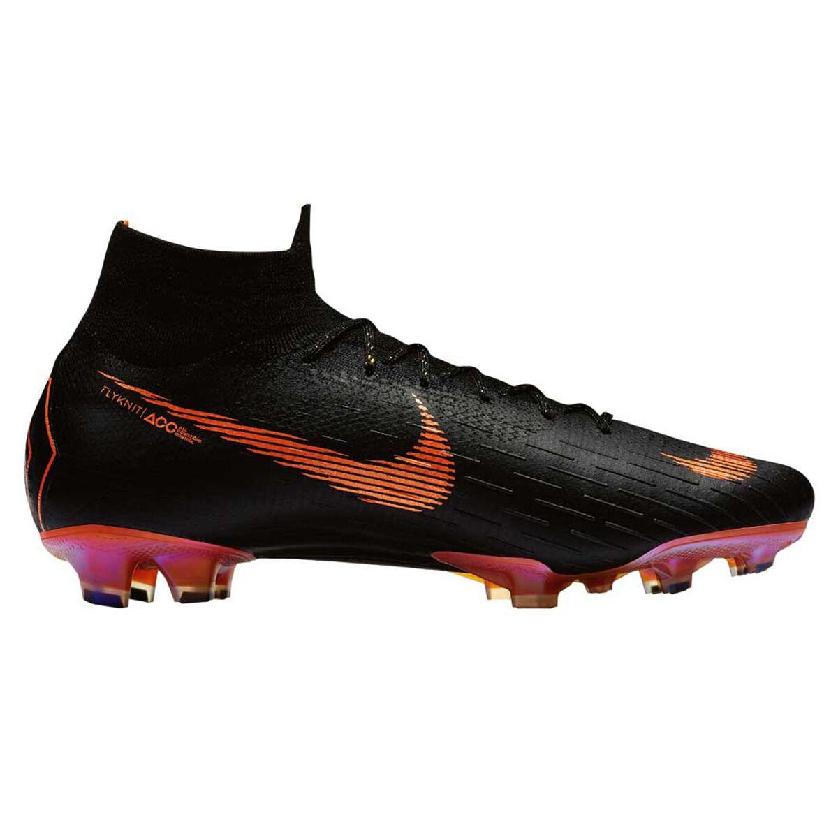 55c97bad181c1 ... cheap nike mercurial superfly vi elite mens football boots black orange  us 7 adult black 79edb