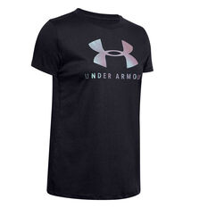 Under Armour Womens Graphic Sportstyle Classic Tee Black XS, Black, rebel_hi-res