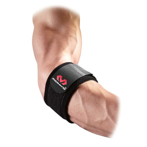 McDavid Adjustable Elbow Strap One Fits All Black, , rebel_hi-res