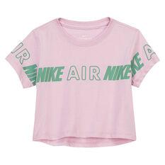 Nike Girls Air Cropped Tee Pink XS, Pink, rebel_hi-res