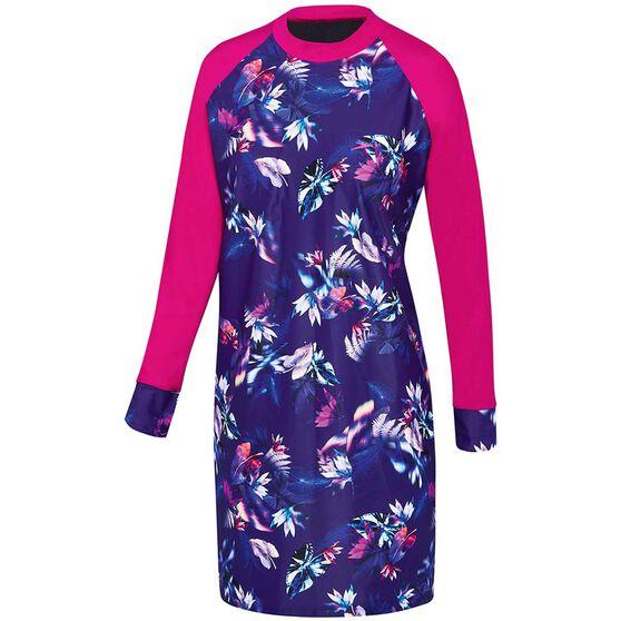 Speedo Womens Swim Dress Purple 12, Purple, rebel_hi-res
