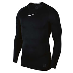 90be9a37 Nike Pro Mens Top Black / White S, Black / White, rebel_hi-res
