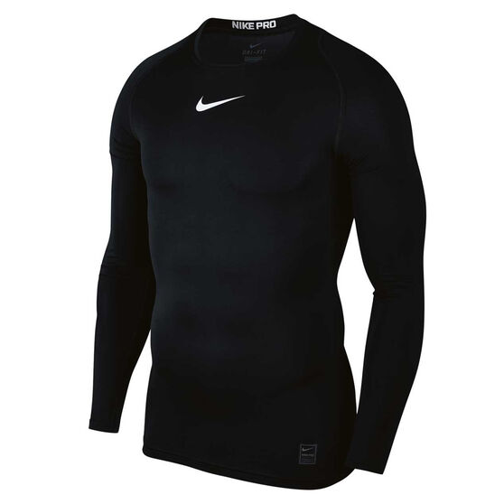 Nike Pro Mens Top, Black / White, rebel_hi-res