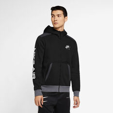 Nike Mens Air Full-Zip Hoodie Black XS, Black, rebel_hi-res