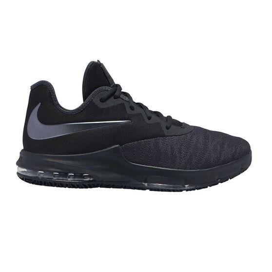 Nike Air Max Infuriate III Low Mens Basketball Shoes, Black / Silver, rebel_hi-res