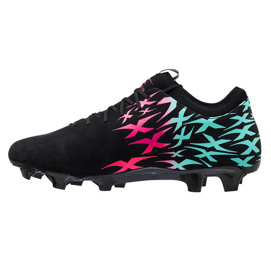XBlades Intercept Rush Womens Football Boots, Black/Pink, rebel_hi-res