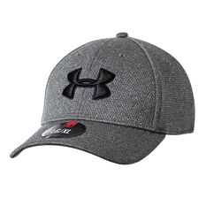 Under Armour Mens Heather Blitzing Cap Black M / L Adult, Black, rebel_hi-res