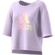 adidas Womens Badge Of Sport Tee Purple XS, Purple, rebel_hi-res