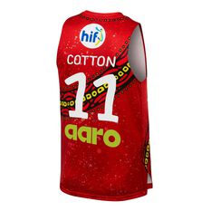Perth Wildcats 19/20 Mens Indigenous Jersey Red S, Red, rebel_hi-res