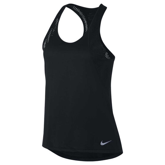 Nike Womens Running Tank, Black, rebel_hi-res