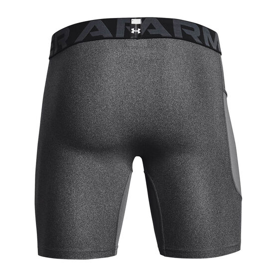 Under Armour Mens Heatgear Armour Shorts, Grey, rebel_hi-res