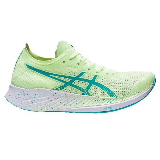 Asics Magic Speed Womens Running Shoes, Yellow/Blue, rebel_hi-res