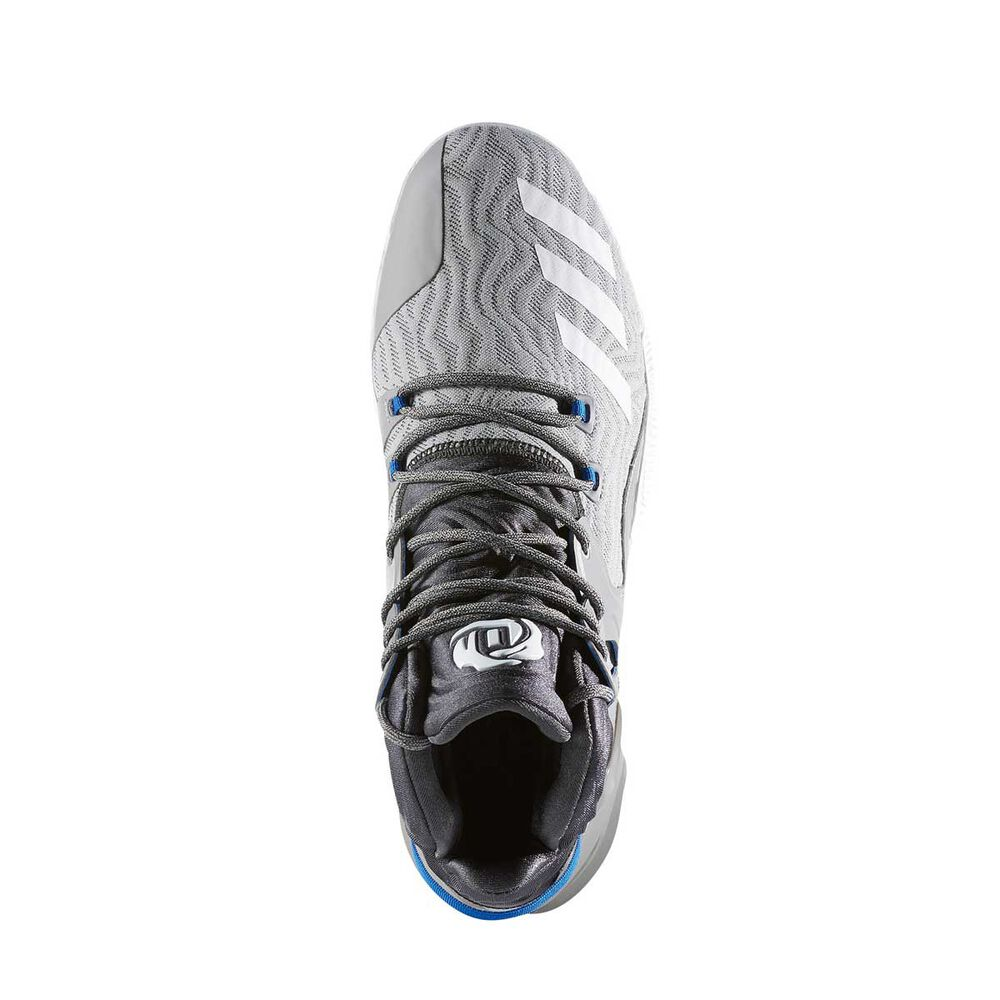 71804c3c62cb adidas D Rose 7 Mens Basketball Shoes Grey   White US 9.5