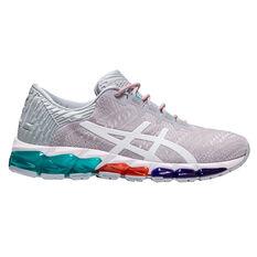 Asics GEL Quantum 360 5 Jacquard Womens Running Shoes Grey / White US 6, Grey / White, rebel_hi-res