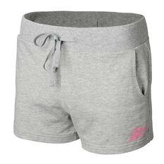 New Balance Girls Sweat Shorts Grey XXS, Grey, rebel_hi-res