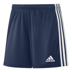adidas Womens Squadra 21 Football Shorts Navy XS, Navy, rebel_hi-res