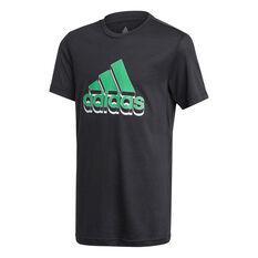Adidas Boys Aeroready Prime Tee Black 5, Black, rebel_hi-res
